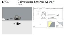 ERCO Quintessence Lentille Wallwasher DEL Blanc Chaud 47849.000 Réflecteur Argent