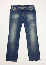 NUOVA L DONNA BLU STRAPPATO con effetto invecchiato scolorito sfilacciati jeans SKINNY SLIM Stretch