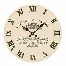 Country Round Wall Clocks with 12 Hour Display