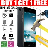 For Apple iPhone 7 Tempered Glass Screen Protector - 100% Genuine Clear New UK