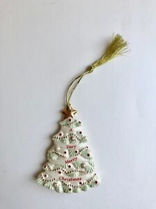Lenox Christmas Tree Shaped Holiday Ornament – New in Box