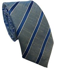 Skinny Mens Tie Light Blue with Electric Blue and Narrow White Stripes