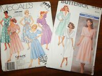 Dress Tie Belt Butterick 3431 McCalls 2939 UC FF 6-12 Womens Sewing Pattern