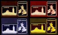 ★★ COLLECTION COMPLETE DE 4 MEDAILLES ● LONDRES / LONDON UK BIG BEN ★★