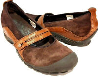 MerrellPlaza Bandeau Brown Suede Mary Janes Comfort Shoes Women's Size US 9 M