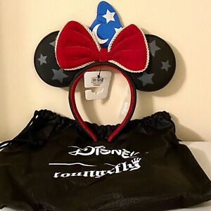 NWT Disney Loungefly Fantasia Collection Sorcerer Mickey Ears (B)