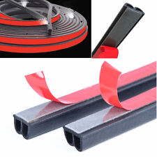 Black 5 Meters B Type Car Door Edge Seal B Pillar Hood Trunk Rubber Strip Trim