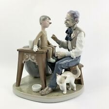 Lladro 5396 Pinocchio Geppetto Puppet Painter Workshop Damaged Signed By Lladro