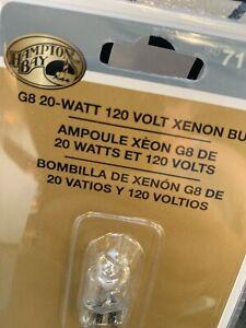 2 Hampton Bay G8 20 WT 120 Volt Xenon CABINET REPLACEMENT Light Bulb 717 727