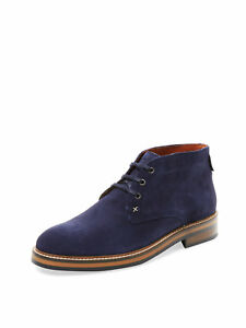 Wolverine Francisco Navy Blue Suede Chukka Boots Size 7.5 US