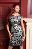 Amy Child Sexy Dress 10 Black Silver Beaded Cap Sleeve Party Sparkly Deco Xmas