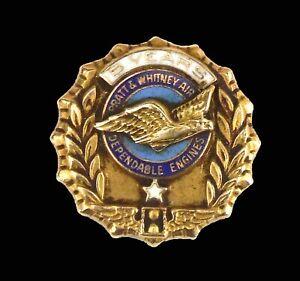 Vintage Pratt & Whitney Aircraft 10K Gold 5 Year Service Award Made By Balfour