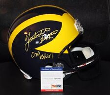 Jabril Pepers Signed Rare Full Size Helmet Michigan Wolverines COA PSA DNA