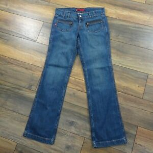 Levis Mary Beth Blue Jeans 32W 32.5L Square Cut Low Jeans Pockets Wide Leg