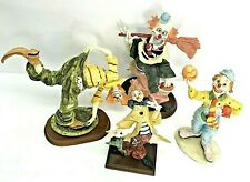 """Vintage Clown Collectibles Lot of 4 Range 10"""" Tallest to 11"""" Widest Hobo"""