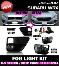 15 16 17 SUBARU WRX STI Fog Light Driving Lamp Kit w/ switch wiring (CLEAR)