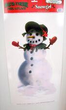 Snowgirl Insta Theme Peel 'N Place Sticker Christmas Decoration