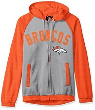 Denver Broncos L Men's NFL Legend Hooded Performance Track Jacket G-III NWT