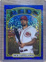 Nick Castellanos 21 Topps Heritage Chrome Blue Sparkle Refractor Cincinnati Reds