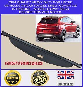 NEW PARCEL SHELF LOAD CARGO COVER BLIND BLACK FOR HYUNDAI TUCSON MK3 2016-2020