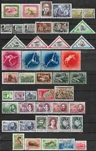 1952-1953 HUNGARY LOT OF 46 USED STAMPS CV €15.90