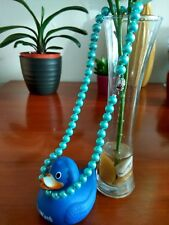 8mm Beauiful blue South Sea Shell Pearl Necklace 18'' -UK seller