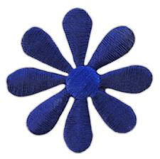 as93 Blüte Dunkelblau Aufnäher Blume Klein Flower Patch Bügelbild 3,5 x 3,5 cm