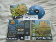 Big Bass Fishing PS1 (COMPLETE) rare Sony Playstation black label
