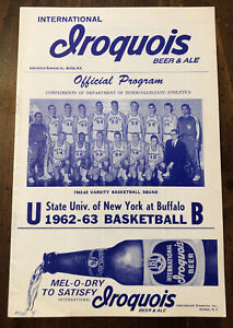 1963 Niagara University Basketball Program University of Buffalo Iroquois Beer