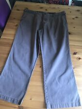 BHS Atlantic Bay Mens Trousers Brown W40 L29 Adjustable Waist