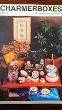 CharmerBoxes Cross Stitch box tops Over Ten designs 1987 Vintage