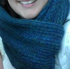 NEW Knitted, soft & warm scarf. Blue, green paua sheen- A must for Winter