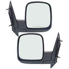 New Set of 2 Door Manual Mirrors for Chevrolet Express / GMC Savana 2003-2007