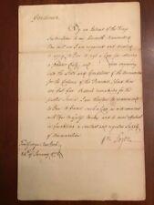 1772 William Tryon Letter, Duty on Gunpowder & Ammunition, Fort George, New York