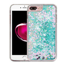 For iPhone 7 PLUS Liquid Waterfall Sparkle Glitter Quicksand Protector Skin Case