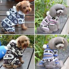 KQ_ BL_ Pet Dog Puppy Elk Warm Winter Soft Sweater Outwear Hoodie Jumpsuit Coat
