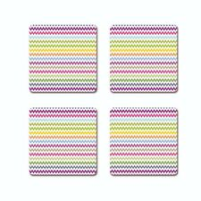 SEAMLESS COLORFUL WAVES COASTER SET OF 4, FREE SHIPPING FROM INDIA