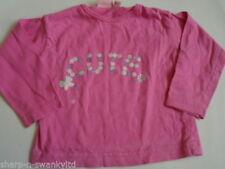 Camisas y camisetas de rosa para niñas de 0 a 24 meses