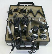 Vintage Realistic Pro-100 Dual Dynamic Microphone Set Mic w/ Case