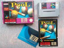 Jeu Super Nintendo / Snes Game Championship Pool PAL CIB Complet *