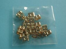 FREE P&P 10 PAIRS OF GOLD PLATED BUTTERFLY EARRING BACKS 5X4MM