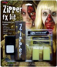 Deluxe Zip Up Face Paint Kit Halloween Horror Scary Zombie Unisex Fancy Dress