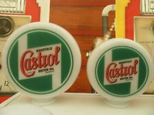Castrol Oil Vintage Petrol Pump Globe Vintage Style Gas Pump Globes Milk Glass