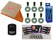 """DENSO Tune Up Kit NGK """"RUTHENIUM"""" & Coil Boots for 2011-2014 Ford Mustang 3.7L"""