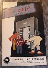 DDR - Fachbuchkatalog aus 1957: Textil - Fachbücher