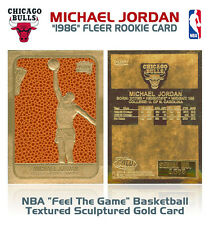 1986 MICHAEL JORDAN Fleer ROOKIE NBA Feel The Game GOLD Card LIMITED *MUST SEE*