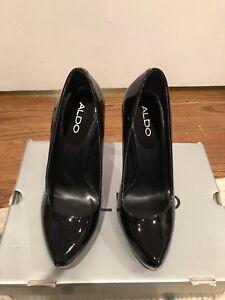 Aldo Atlantic Cityy Patent Leather Platform Stiletto Heels Size 6