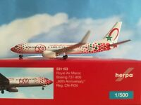 "Herpa Wings 1:500 531153  Royal Air Maroc B737-800 ""60th anniversary"" - CN-RGV"