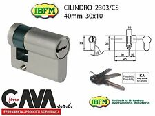 Mezzo CILINDRO EUROPEO IBFM  art.2303 Cromo Satinato   40mm  30x10
