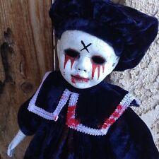 Tears of Blood Crackled Choir Boy Creepy Horror Doll Bastet Christie Creepydolls